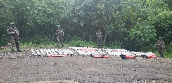 Ejército de Nicaragua incauta 300 tacos de marihuana en Nueva Segovia Managua. Radio La Primerísima
