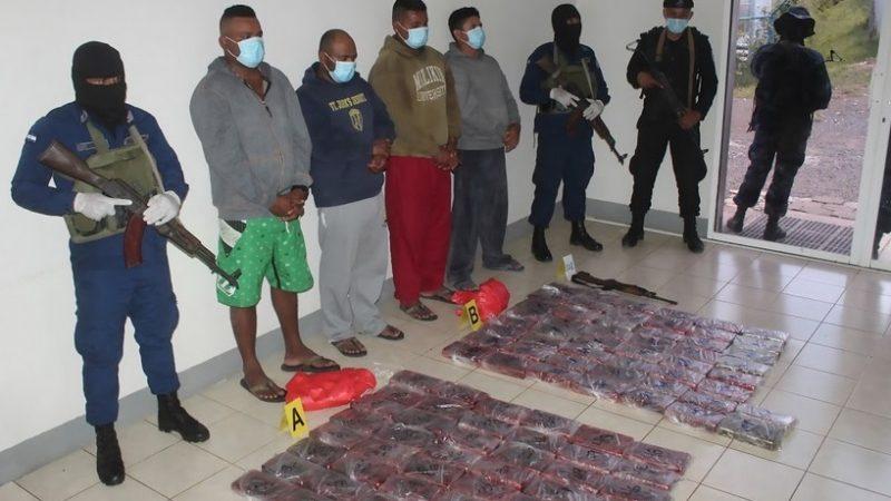 Incautan 110 kilos con 529.9 gramos de droga frente a costas de Rivas Managua. Radio La Primerísima