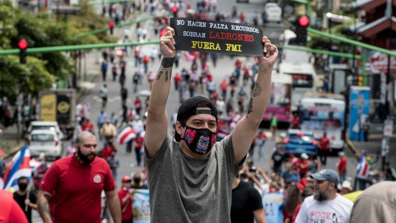 Ticos realizarán marcha nacional en contra del FMI San José. Prensa Latina.