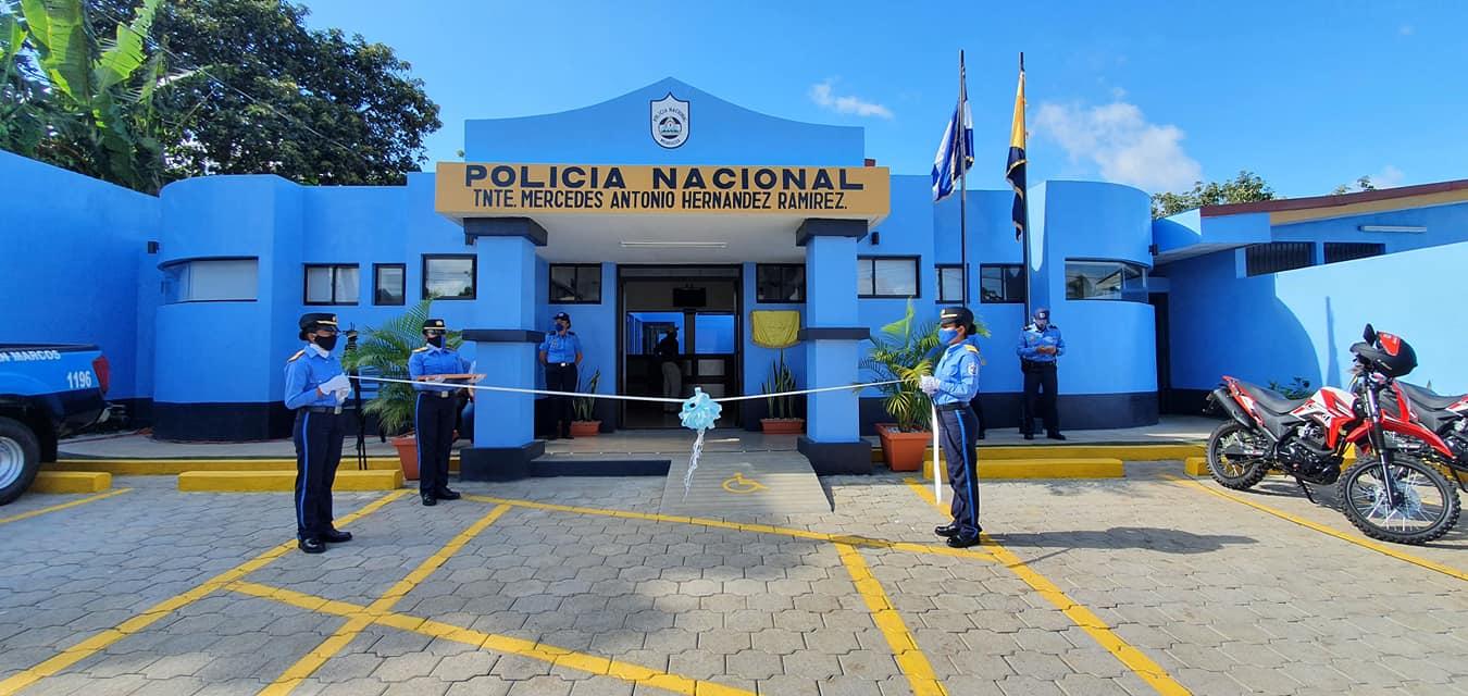 Pobladores de San Marcos, Carazo, estrenan estación policial Managua. Radio La Primerísima