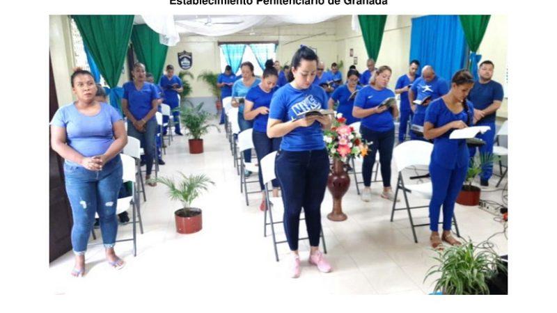 Realizan culto virtual en todos los penales de Nicaragua Managua. Radio La Primerísima.