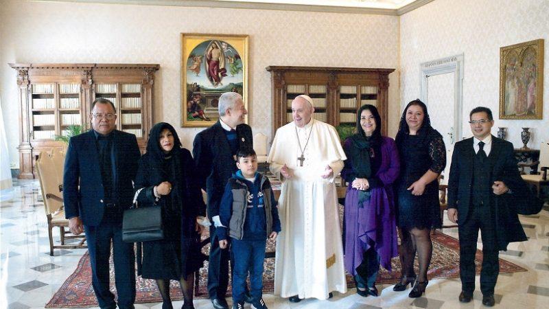 El Papa recibe a representantes de la Embajada de Nicaragua ante la Santa Sede Roma. Agencias.