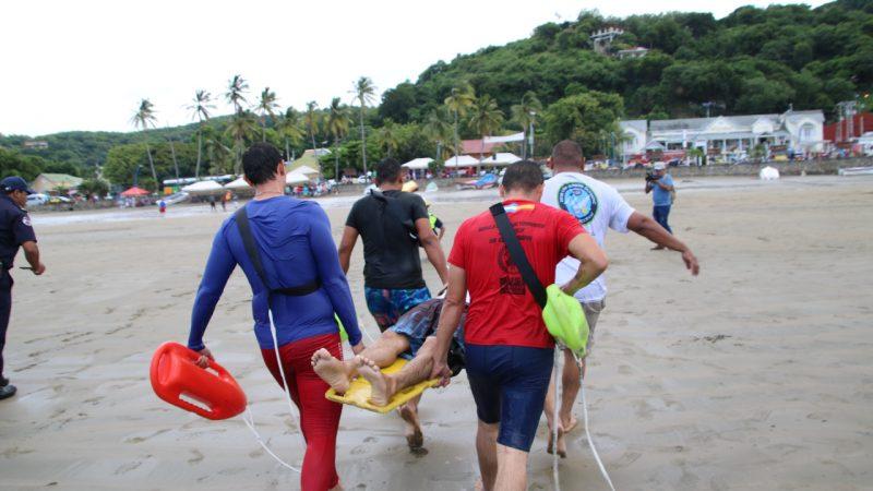 Bomberos Unificados realizan simulacro en San Juan del Sur San Juan del Sur. Silvio Mora.