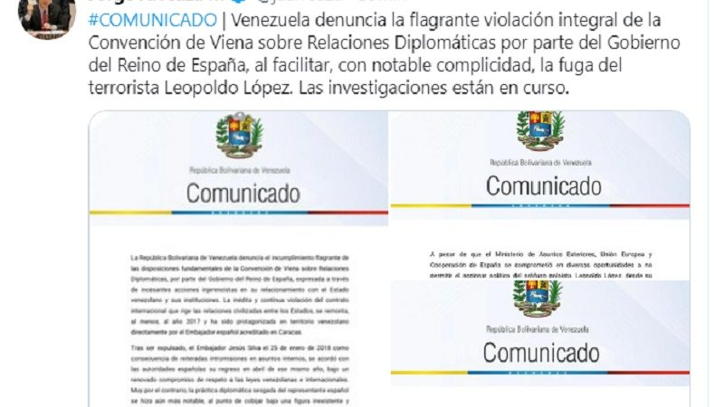 Venezuela acusa y denuncia a España por injerencismo Caracas. Prensa Latina