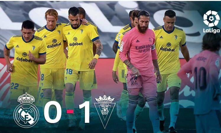 Cádiz gana al Real Madrid en la Liga española Cádiz, España. Prensa Latina