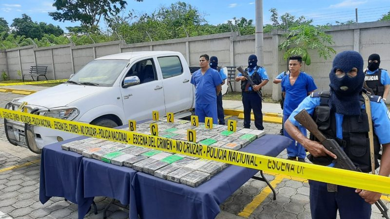 Policía incauta 111 kilos de cocaína en Madriz Managua. Por Jerson Dumas/Radio La Primerísima