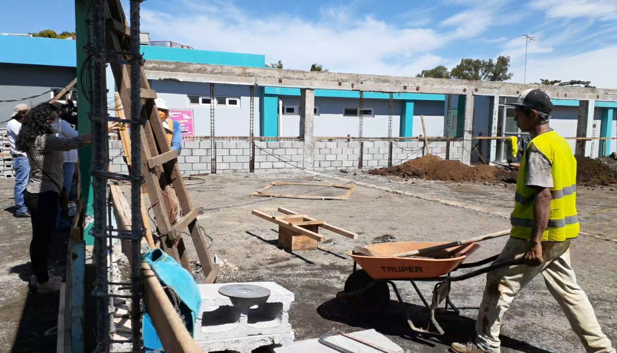 Construyen área de consulta externa en hospital Manolo Morales Managua. Por Libeth González/Radio La Primerísima