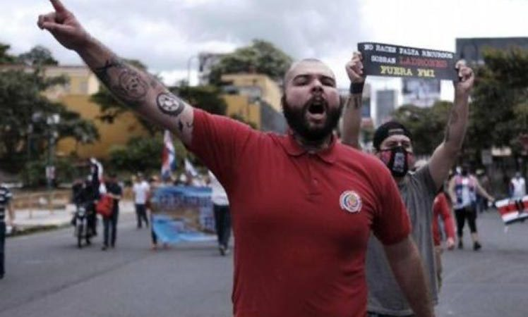 Noveno día de protestas en Costa Rica San José. Prensa Latina