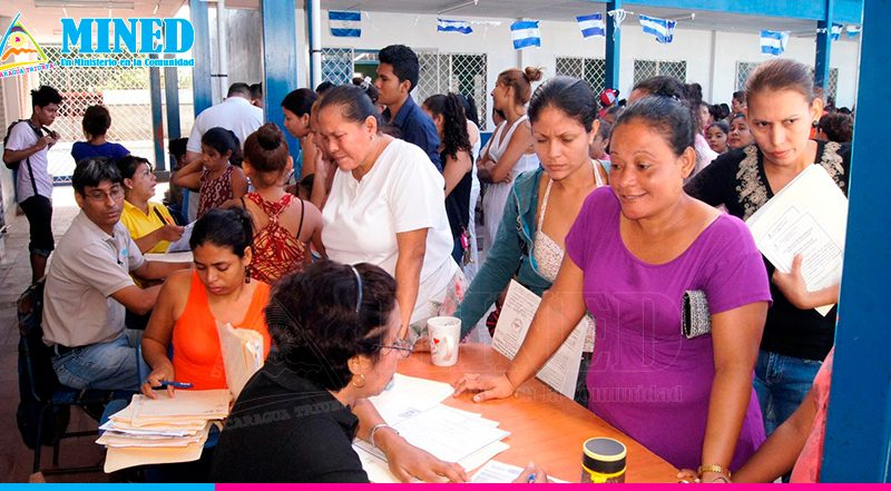 Hasta la fecha se han matriculado 400 mil estudiantes en centros públicos Managua. Radio La Primerísima