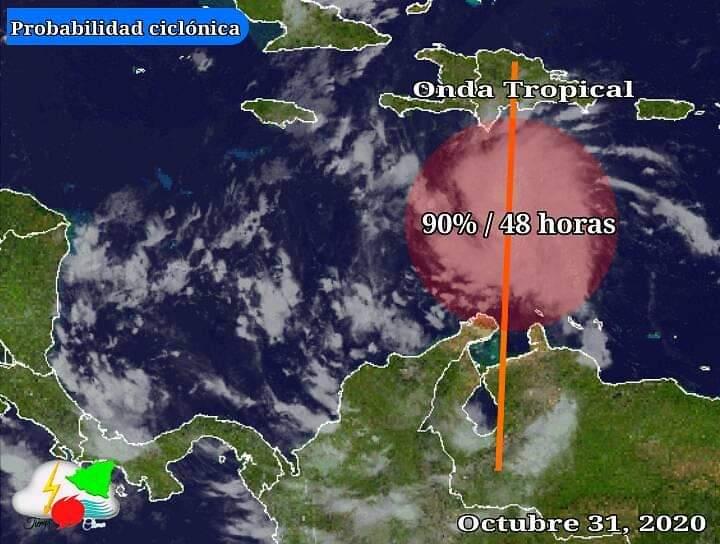 Tormenta causará mucha lluvia en todo el país a partir del lunes Managua. Radio La Primerísima