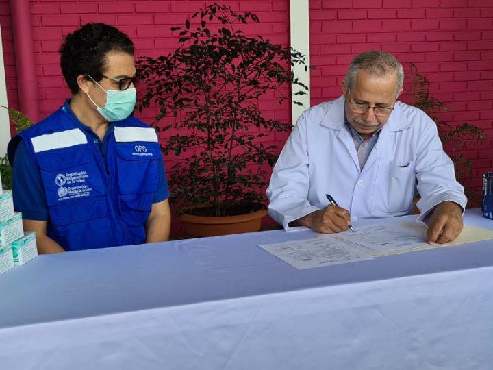 OPS dona al Ministerio de Salud equipos de protección de médicos