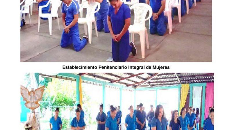 Realizan misa virtual en todos los penales Managua. Radio La Primerísima