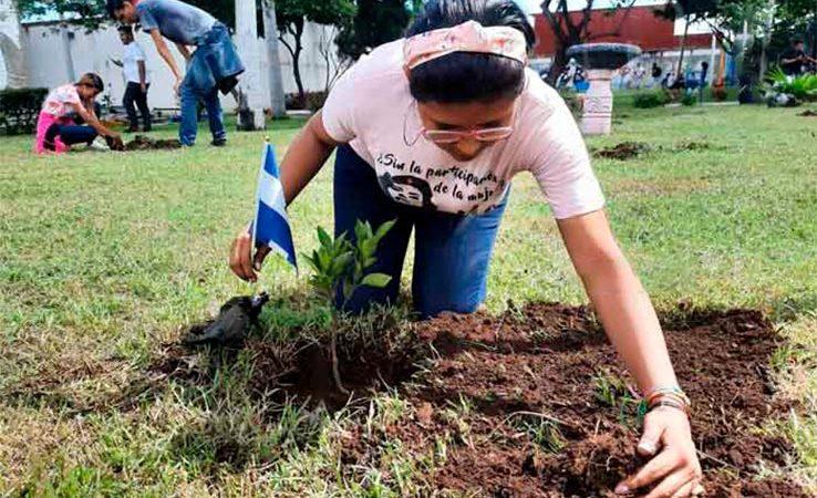 Jóvenes realizan jornada de reforestación en homenaje a Che Guevara Managua. Radio La Primerísima