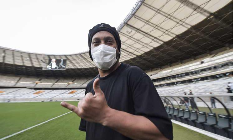 Ronaldinho dio positivo a Covid-19 Brasilia. Prensa Latina
