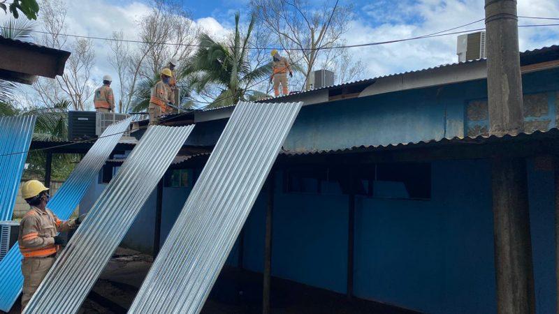 Reparan daños en Hospital Bello Amanecer en Bilwi Managua. Por Rebeca Flores/Radio La Primerísima