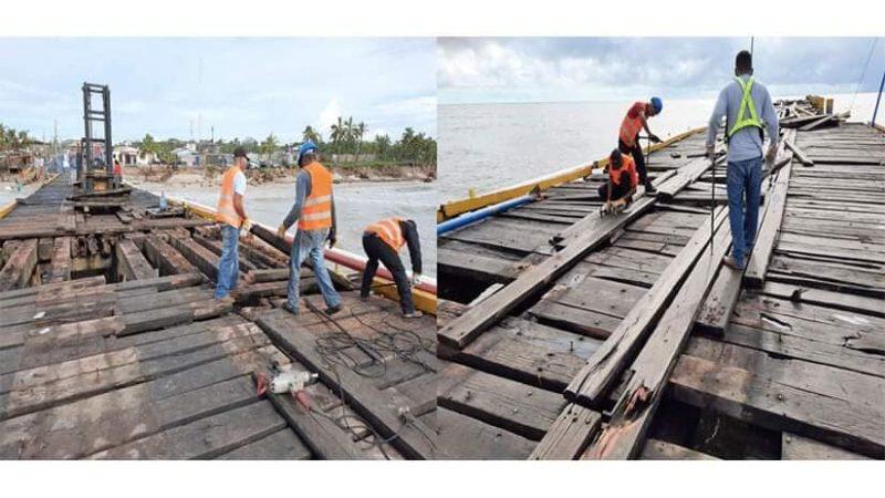 Avanza reparación del muelle de Bilwi Managua. Radio La Primerísima