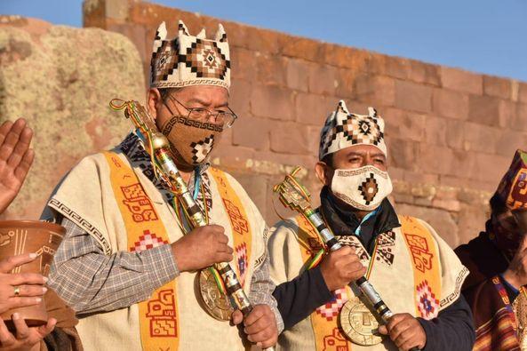 Pueblos indígenas de Bolivia entregan mando al presidente Luis Arce La Paz. Agencias