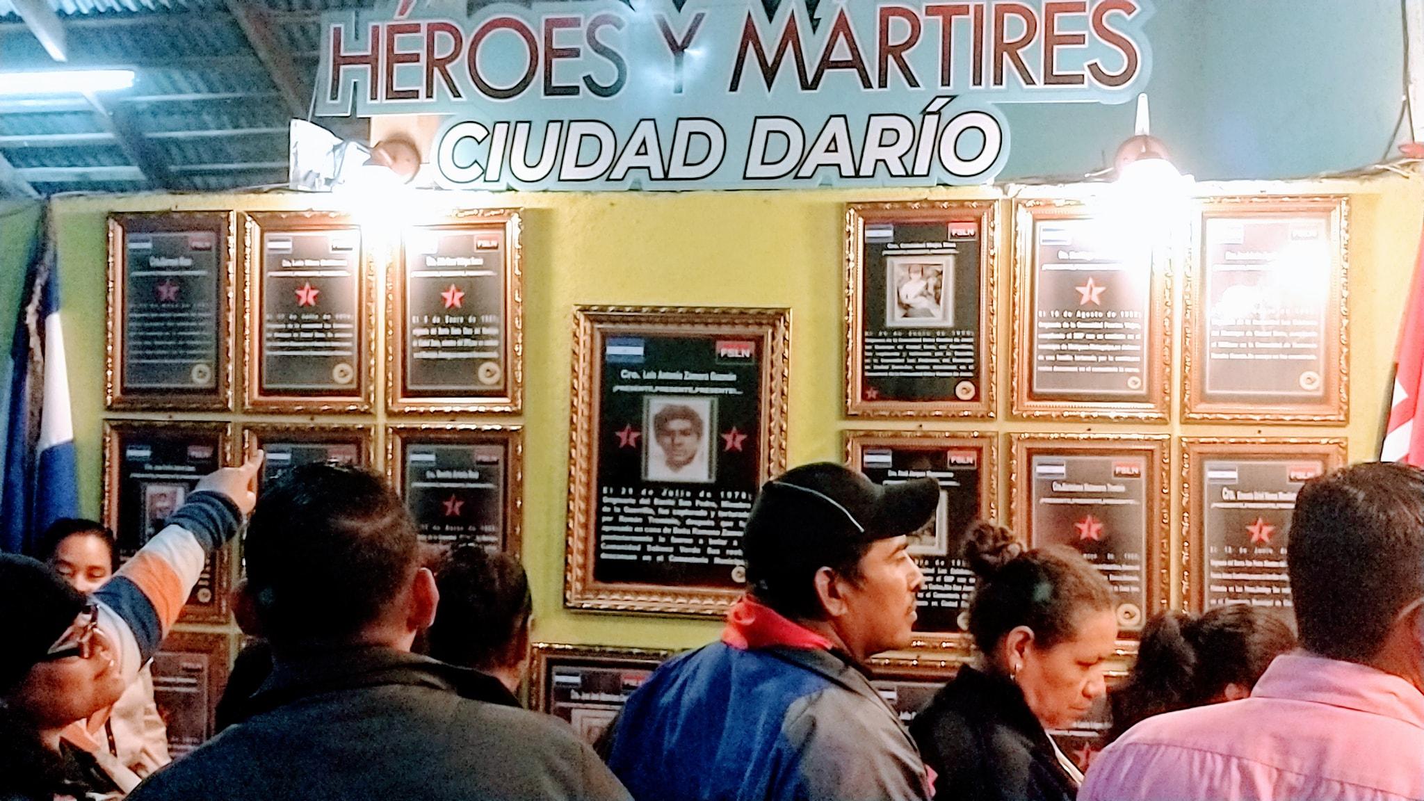 Inauguran galería en honor a los héroes y mártires de Ciudad Darío Managua. Radio La Primerísima.