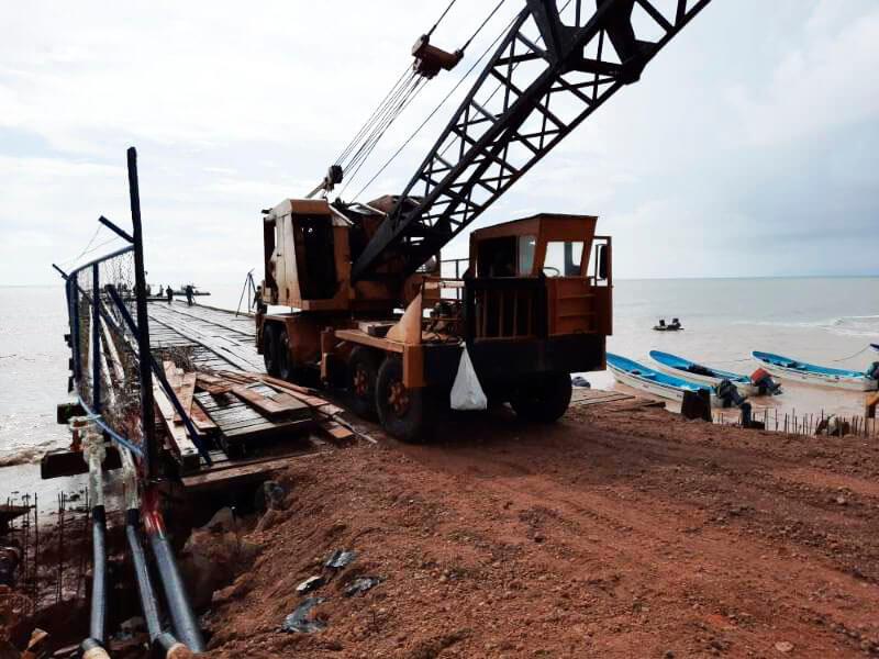 Avanzan trabajos para rehabilitar muelle de Bilwi Managua. Radio La Primerísima