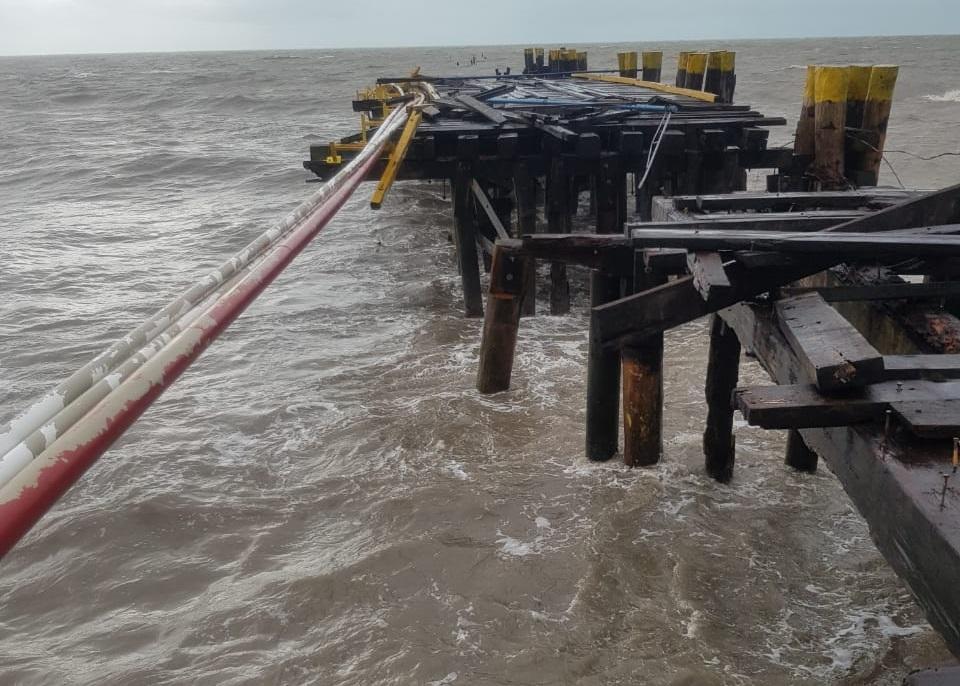Ciclón ETA daña muelle en Puerto Cabezas Managua. Por Jaime Mejía/Radio La Primerísima
