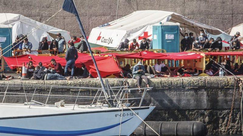 Campamento de migrantes en Canarias a punto de desaparecer EFE