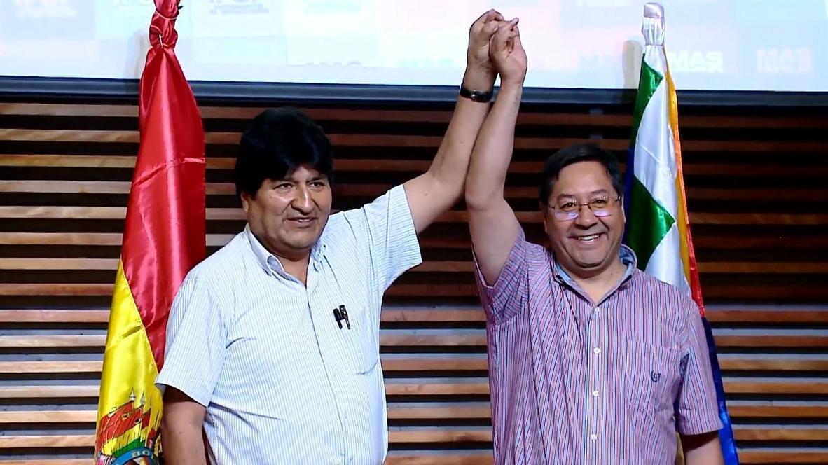 Evo Morales se reencuentra con Luis Arce tras su retorno a Bolivia Caracas. teleSUR