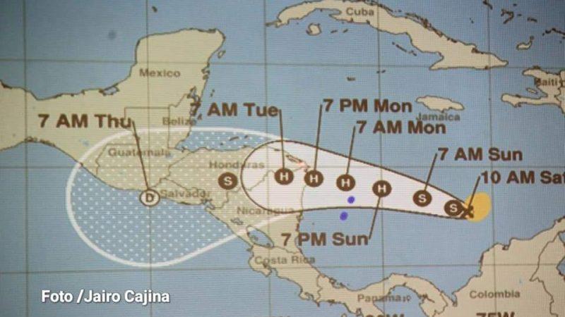 "Expertos no precisan zona de impacto de Tormenta Tropical ""Iota"" Managua. Radio La Primerísima"