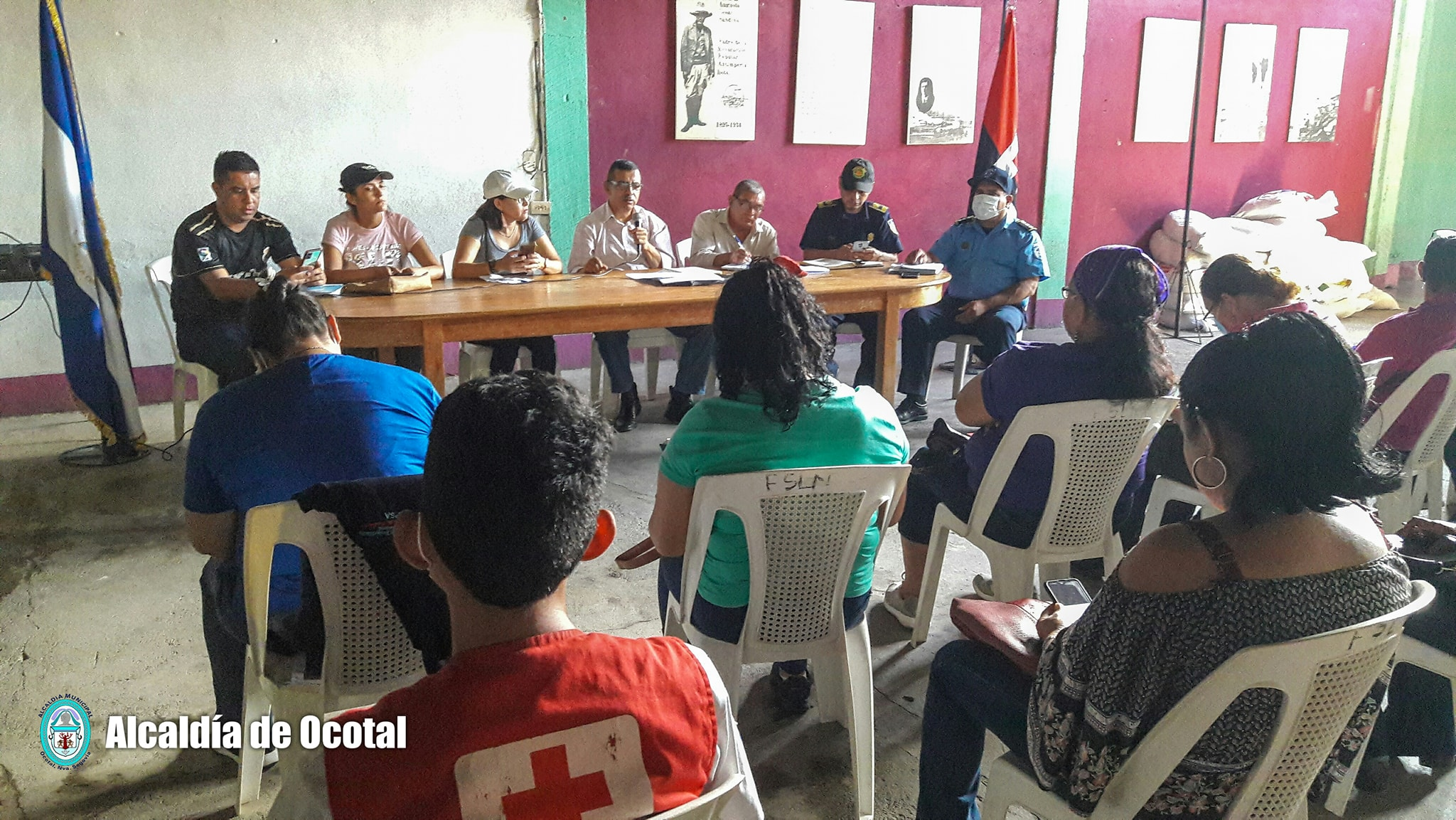 COMUPRED Ocotal realiza recorrido por puntos críticos Ocotal. Alina Lorío.