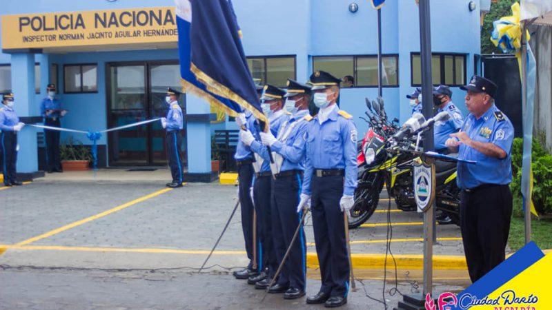 Inauguran nueva estación policial en Ciudad Darío Managua. Radio La Primerísima.