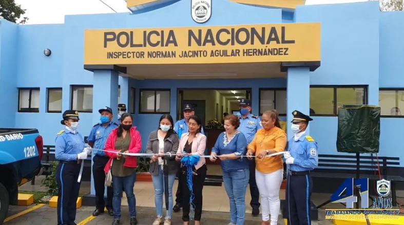 Inauguran estación policial número 36 en Ciudad Darío, Matagalpa Managua. Radio La Primerísima