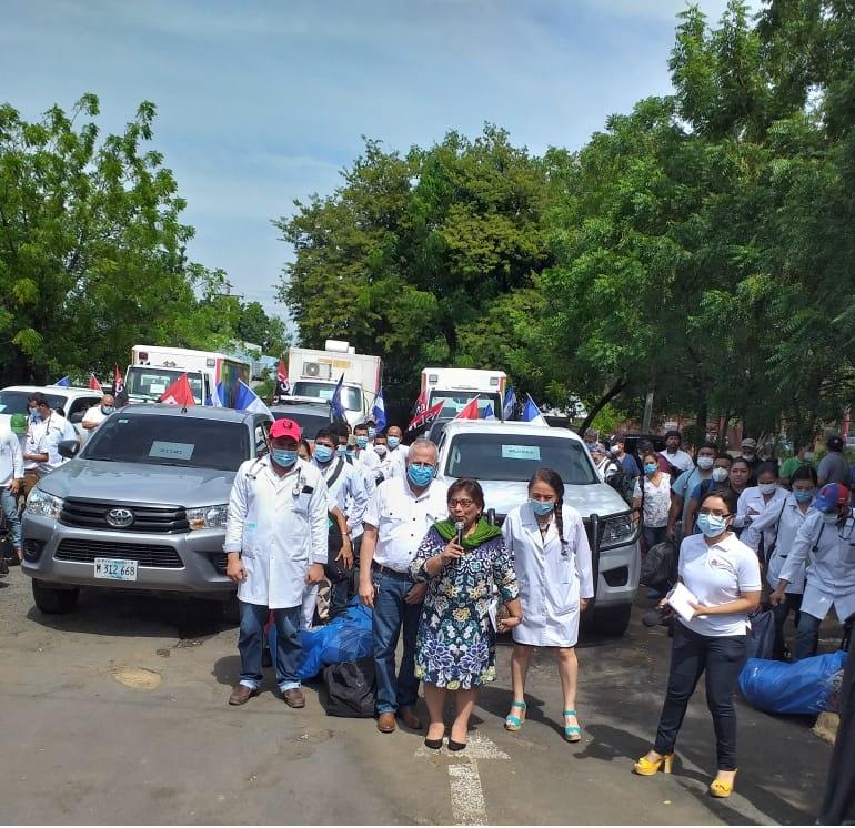 Caravana médica parte al Caribe Norte para brindar atención por Iota Managua. Jerson/ Radio La Primerísima