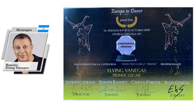 "Elving Vanegas gana primer lugar en ""Europe In Dance Grand Prix"" Managua. Radio La Primerísima"