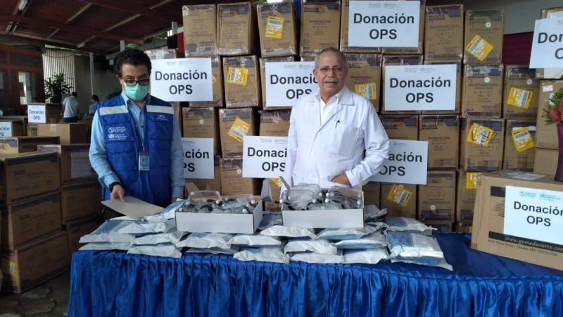 OPS dona equipos para médicos que atienden a damnificados Managua. Por Jaime Mejía/Radio La Primerísima