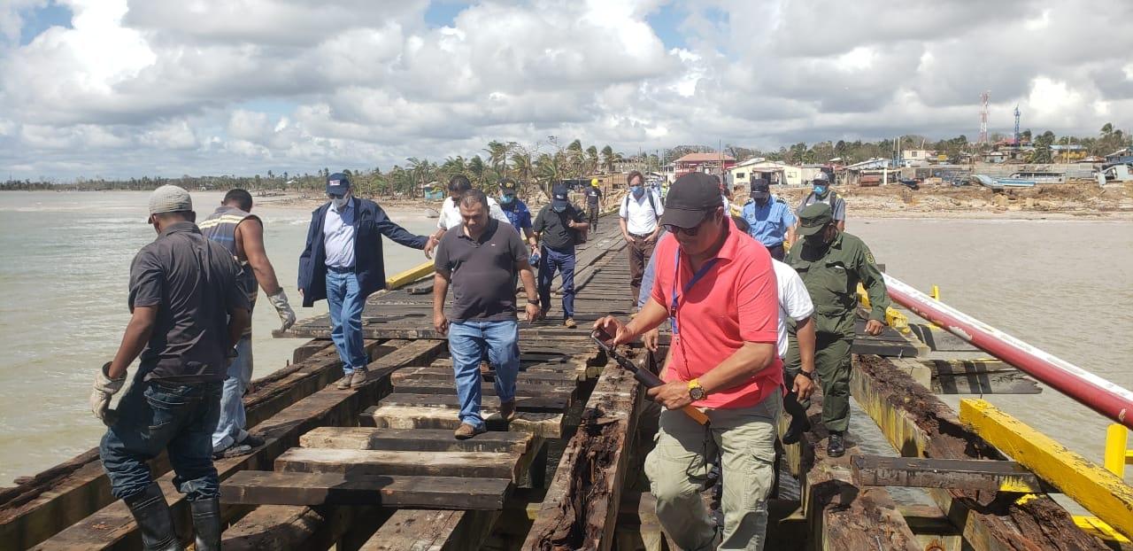 Portuaria evalúa daños en muelle de Bilwi Managua. Radio La Primerísima