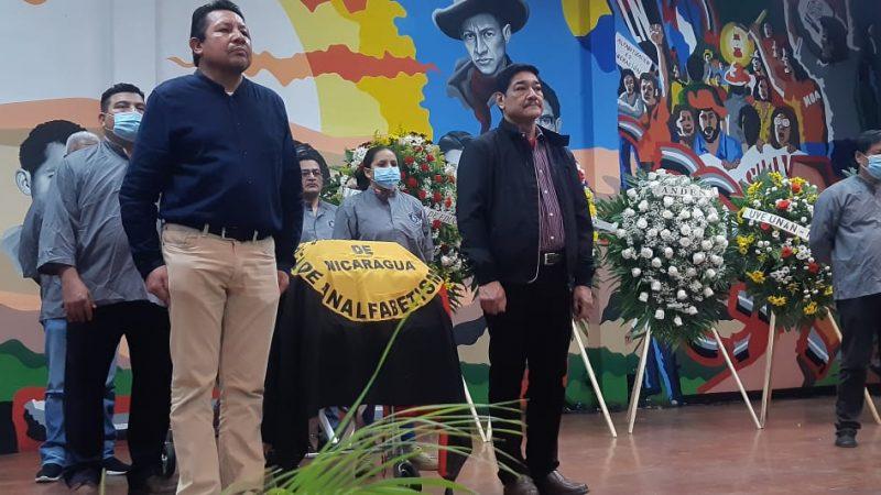 Homenaje póstumo al profesor Miguel de Castilla Managua. Radio La Primerísima