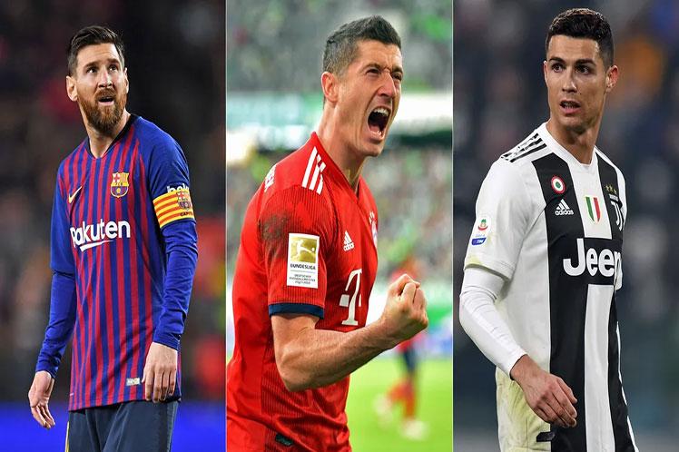Tres grandes del fútbol disputan el premio The Best Zurich, Suiza. Prensa Latina