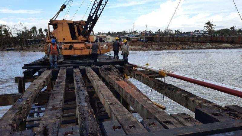 Avanzan obras para reconstruir muelle en Bilwi Managua. Radio La Primerísima
