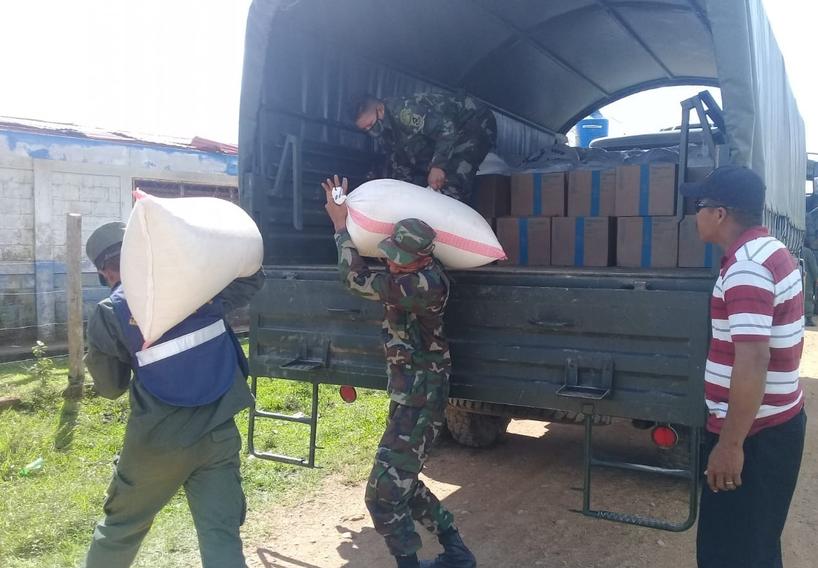 Ejército realiza traslado de ayuda humanitaria al Caribe Norte Managua. Radio La Primerísima