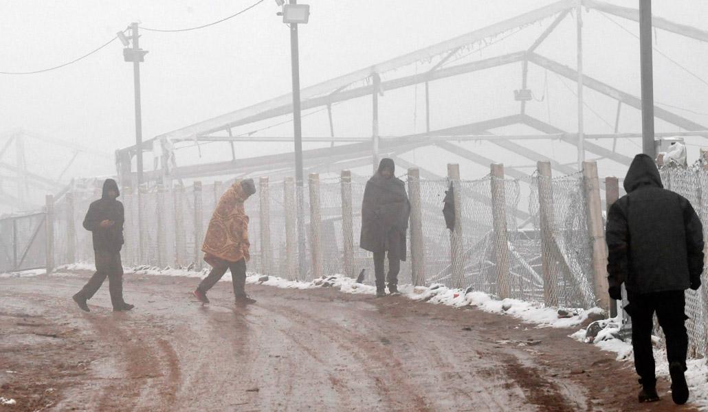 Migrantes en Bosnia expuestos a temperaturas de -8º C Agencia