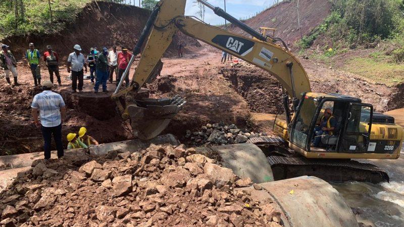Avanza construcción carretera Muy Muy-Matiguás-Río Blanco Managua. Por Douglas Midence/Radio La Primerísima