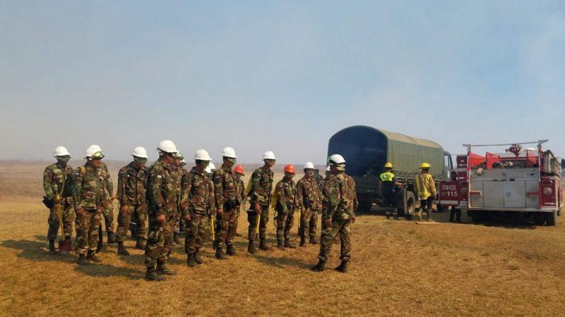 Militares apoyan estrategia de prevención de incendios Managua. Radio La Primerísima