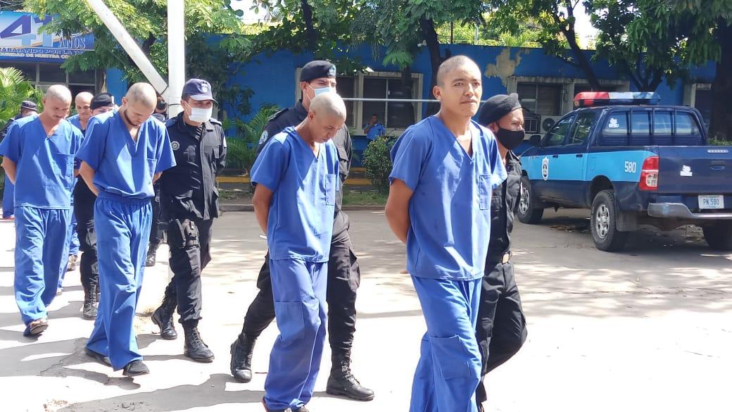 Tras las rejas cinco sujetos acusados de violación en Chinandega Managua. Jerson Dumas/ Radio La Primerísima