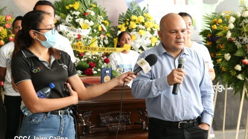 Rinden homenaje póstumo a Xavier Araquistáin Managua. Radio La Primerísima