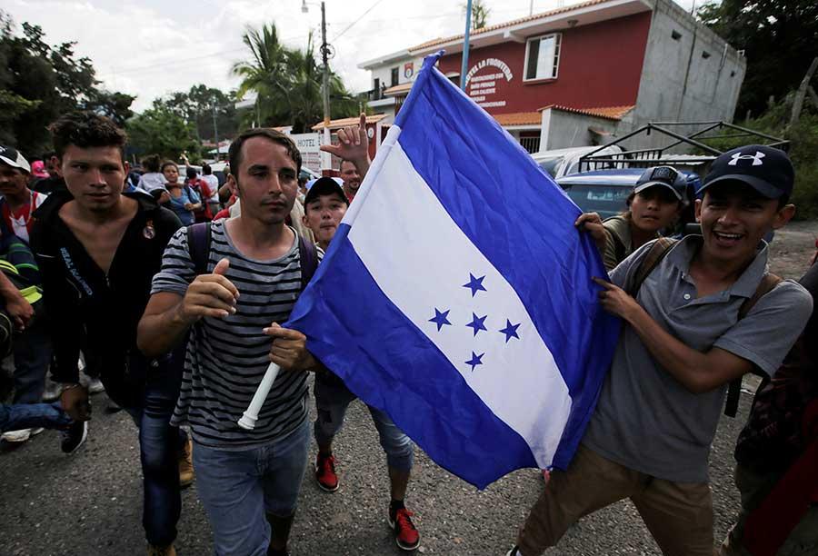 Sale otra caravana de Honduras hacia EEUU Tegucigalpa. EFE