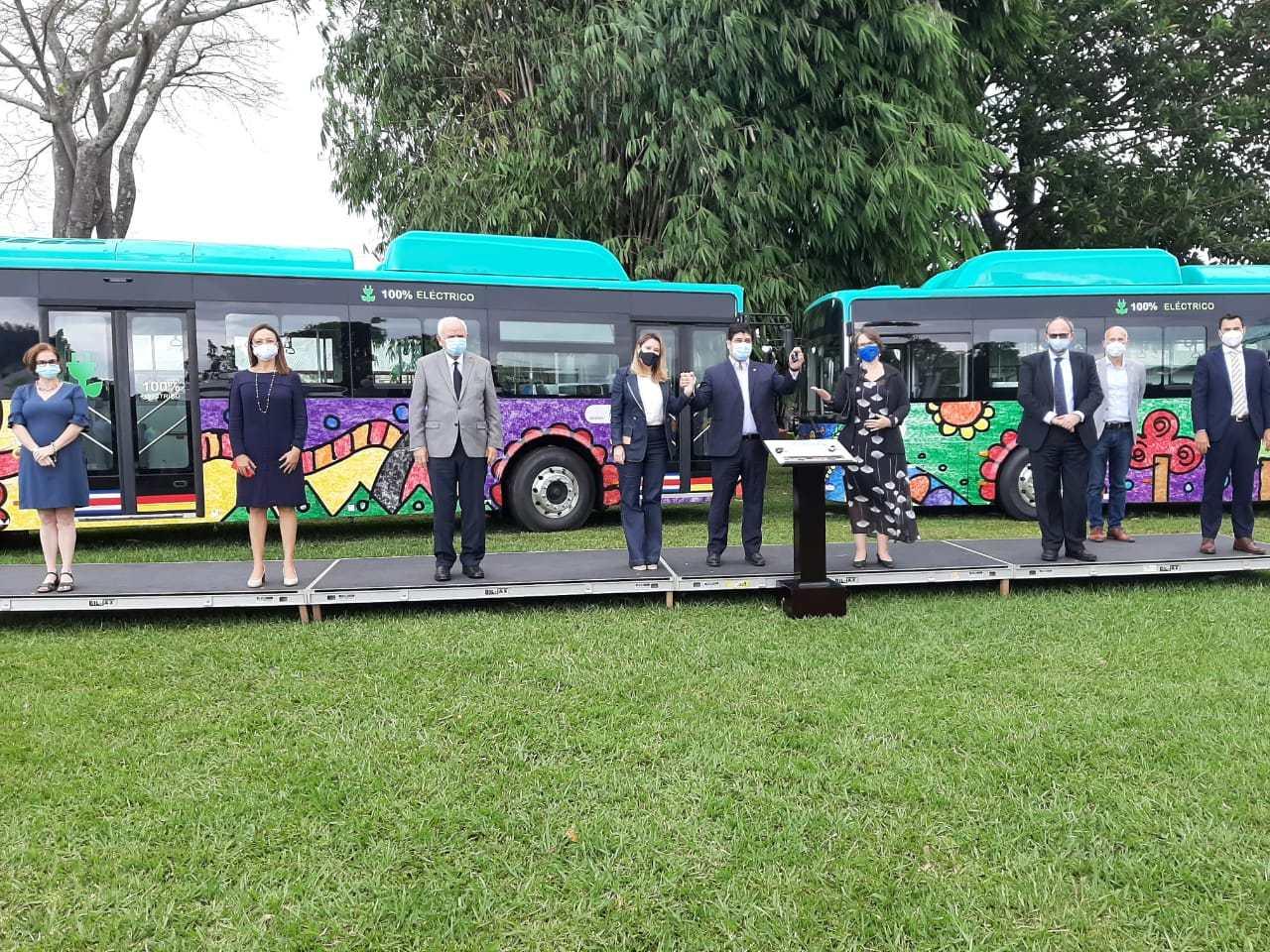 Costa Rica inaugura ruta para probar buses eléctricos San José. Prensa Latina