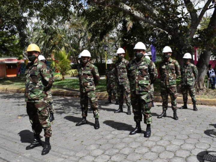 Ejército en lanzamiento del plan contra incendio en Jinotega