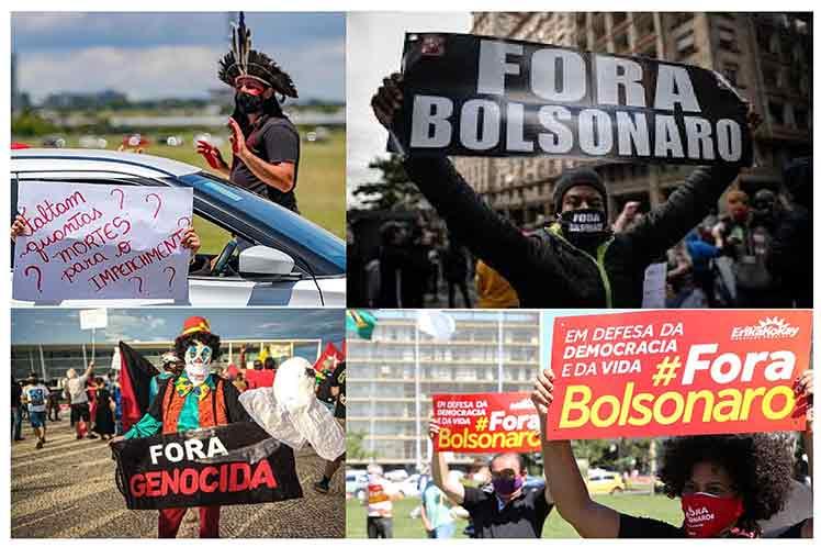 Brasileños regresan a las calles pidiendo destitución de Bolsonaro Brasilia. Prensa Latina