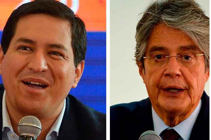 Arauz y Lasso a la segunda vuelta por la presidencia Quito. Agencia