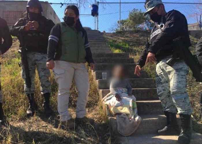Rescatan a niña migrante en la corriente del río Bravo