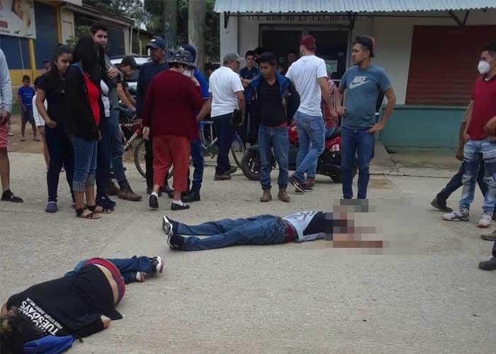Asesinan a balazos a dos hombres en Honduras Santa Bárbara. Agencia